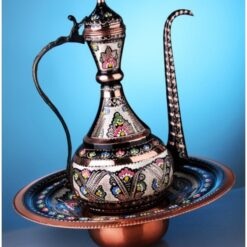 Turkish Copper Large Ibrik Full Hand Painted