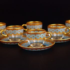 Giray Turkish Coffee Glasses Set For Six Person