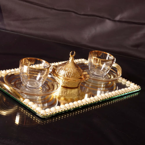 coffee set vanity tray