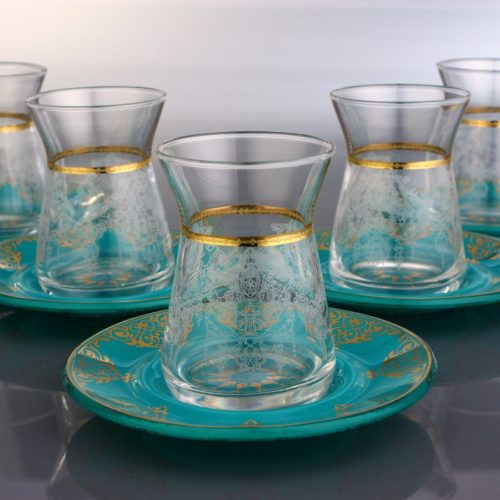 arabic tea cups turquois