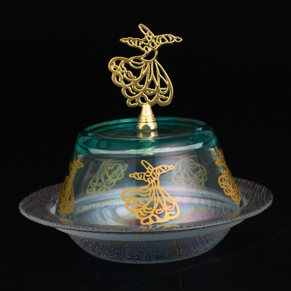 Ottoman Snack Serving Bowl With Whirling Dervish