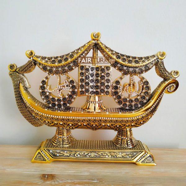 Ship Design  Name of Allah Muhammad Islamic Gift Sculpture Table Decor