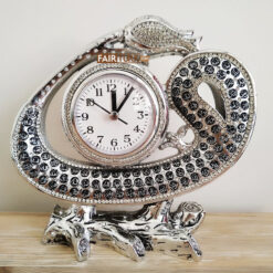 Silver Waw Design Asma ul Husna Islamic Gift Table Watch