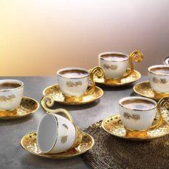 Gold Color Demitasse Six Pieces New Design