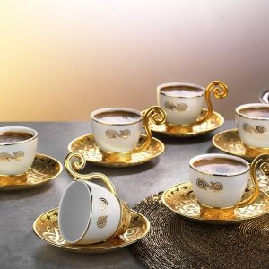 Gold Color Demitasse Six Pieces New Design