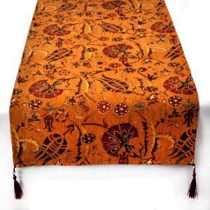 Authentic Light Brown Ottoman Table Runner
