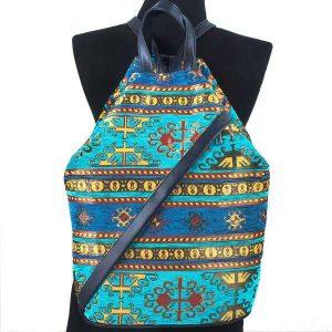 New Design Blue Turkish Ethnic Kilim Backpack