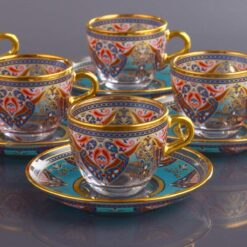 Evla Ethnic Turkish Coffee Cups For Six Person