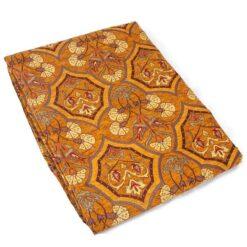 Authentic Brown Color Floral Design Table Cloth