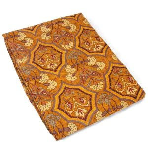 Authentic Brown Color Floral Design Table Cloth