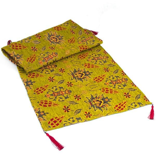 Middle Eastern Green Turkish Table Runner