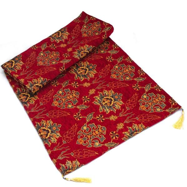 Middle Eastern Red Turkish Table Runner