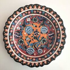 Large Turkish Ceramic Handmade Unique Plate