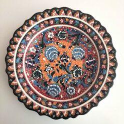 Large Turkish Ceramic Handmade Unique Plate