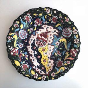 Large Ceramic Hand Painted Turkish Dinnerware Plate