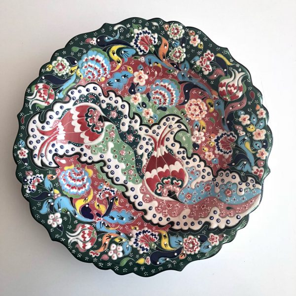 Large Ceramic Hand Painted Turkish Plate
