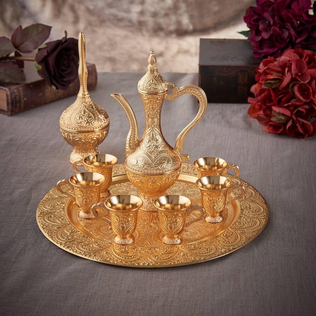 Latest Model Gold Color Moroccan Tea Cups Set Fairturk Com