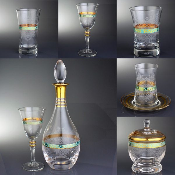 Complete Glass Drinking Sets With Pitcher