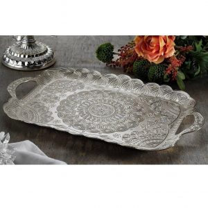 Latest Silver Turkish Tea Serving Tray
