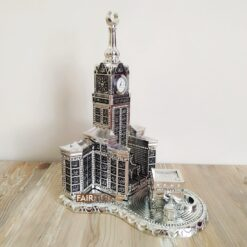 Silver Color Zamzam Tower And Kaaba Islamic Sculpture