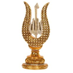 Gold Color Tulip Design Islamic Sculpture With ALLAH Name
