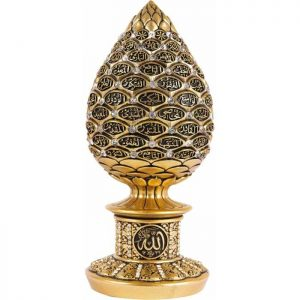 Gold Color Pine Cone Design Islamic Gift Sculptures