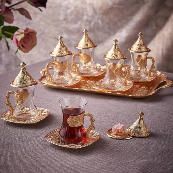 New Middle Eastern Tea Cups Set For Six People