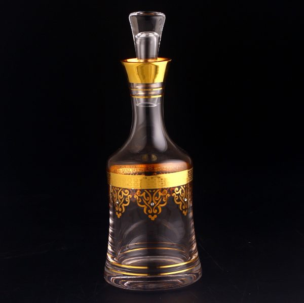 Gold Colored Arabic Style Beverage Water Glass Pitcher