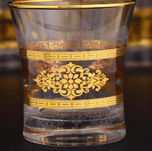 Gold Rimmed Middle Eastern Water Glass Set