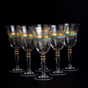 6 Pcs Turquoise Authentic Glasses Set