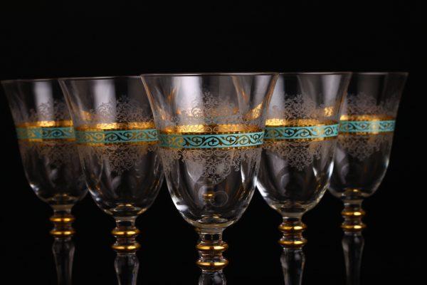 6 Pcs Turquoise Authentic Glasses Set