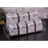 Authentic Porcelain Spice - Cookie Set For Seven With Metal Stand