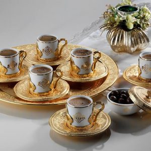 Luxury Gold Color Espresso Turkish Coffee Set