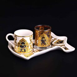 Arabic Style Caftan Design Colorfull Coffee Set For One Person