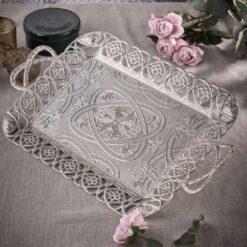 New Ottoman Silver Tea Serving Tray