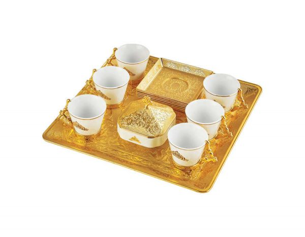 Gold Espresso Turkish Coffee Cups Set