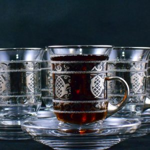 Latest Model Silver Color Tea Set With Holder