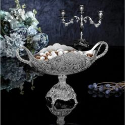 Large Silver Plated Chocolate Snack Bowl