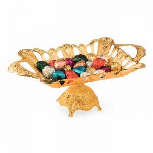 Large Gold Rectangle Chocolate Bowl