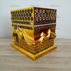 Large Size 3D Kaaba Design Islamic Gift In Gold Color