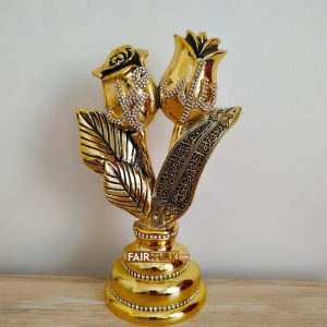 Rose - Tulip Allah- Mohammad Islamic Gift In Gold Color