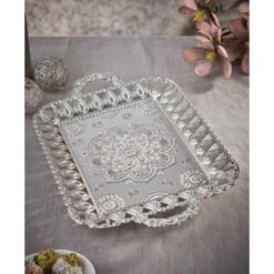 Large Silver Tea - Coffee Serving Tray