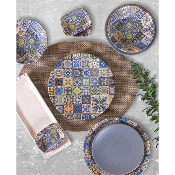 24 Pcs Stoneware Authentic Turkish Dinner Set For 6 Person