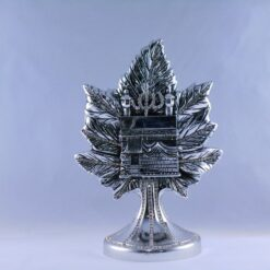 Medium Size Leave Design Islamic Gift In Silver Color