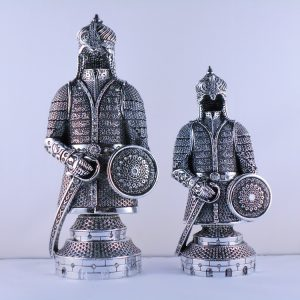 Silver Ottoman Soldier Design Islamic Table Gift