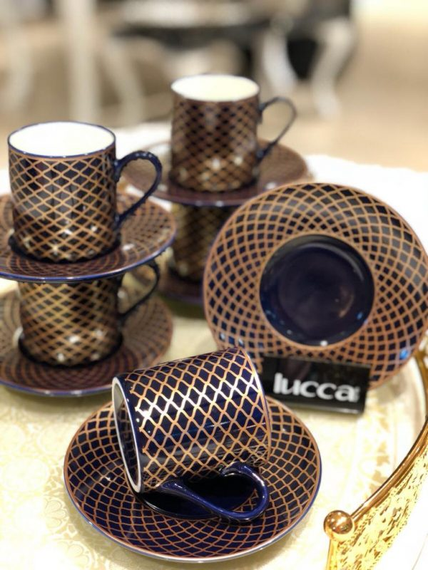 Lucca Porcelain Gloria Coffee Set For Six Person