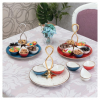 Hanger Model Appetizer Serving Tray With 6 Pcs Ceramic Bowls