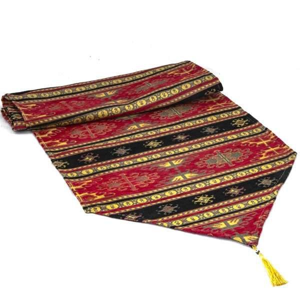 Red Color Turkish Kilim Design Table Runner