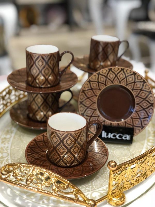 Lucca Porcelain Celinda Coffee Set For Six Person