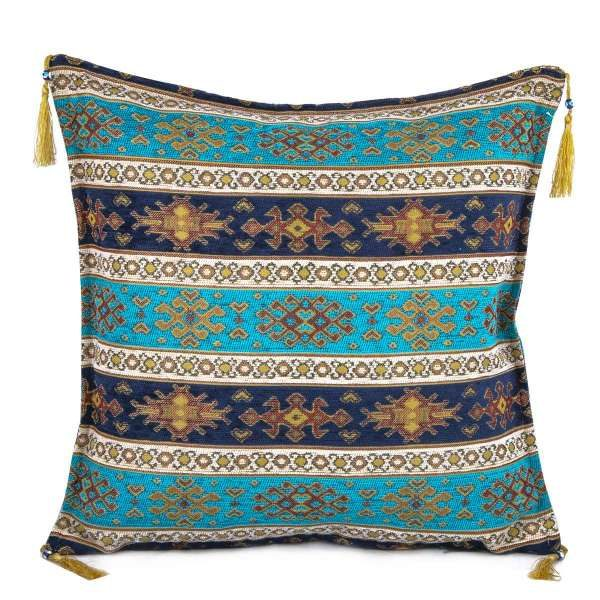 2x Turquois - Blue Turkish Authentic Pillow Case